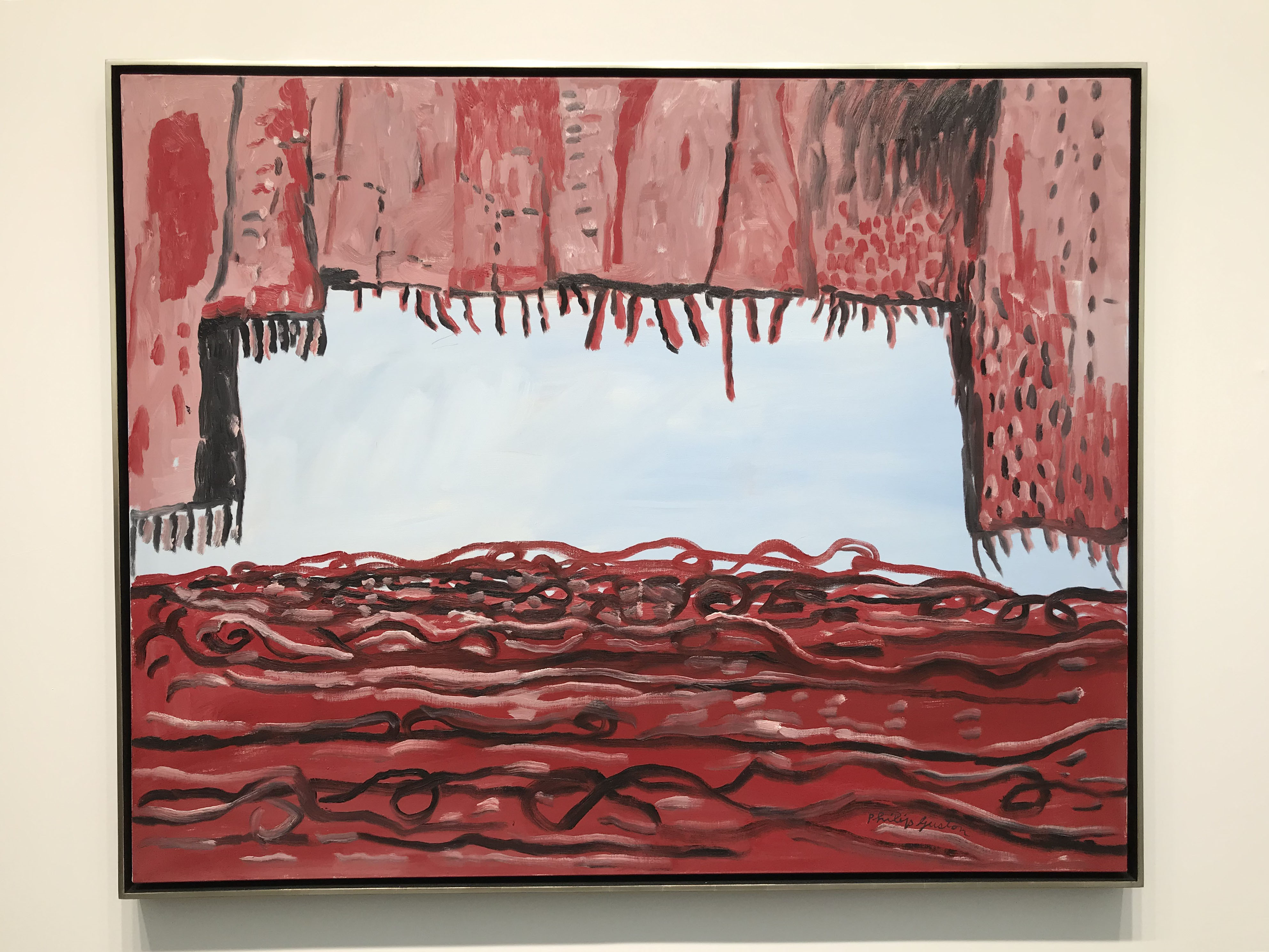 work by Philip Guston shown by Hauser and Wirth