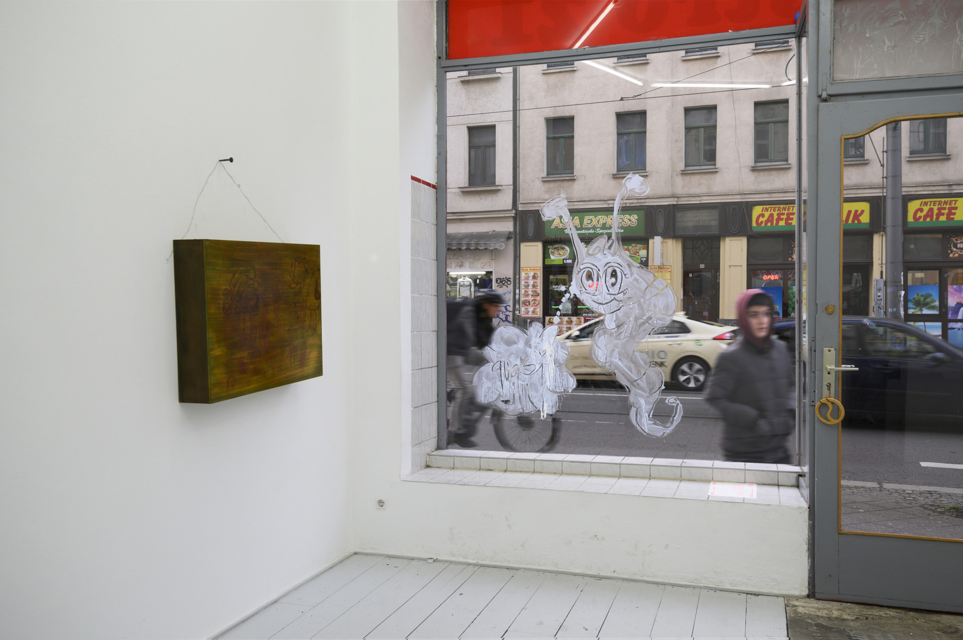 Installation View. Wasting Around: Traditions in Verses at Bistro 21.