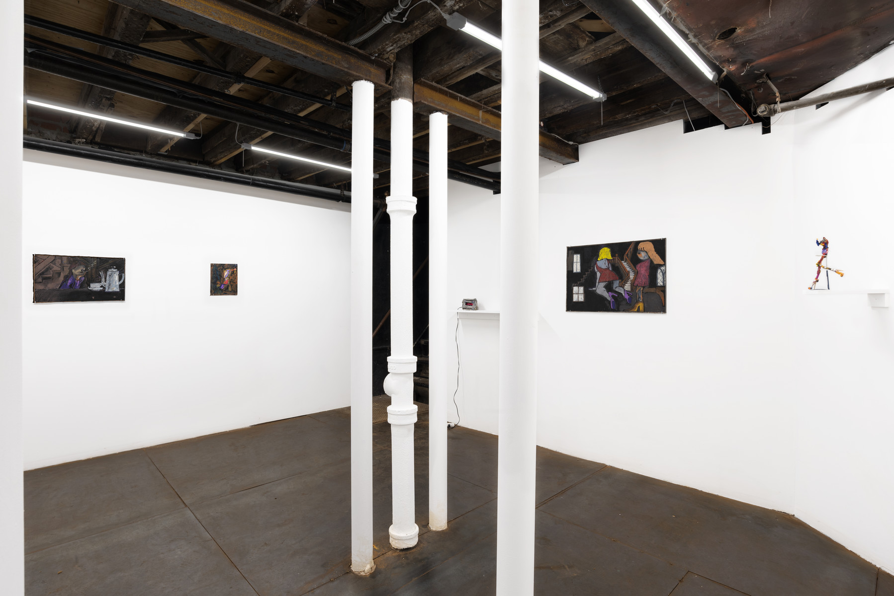 Michelle Uckotter, Trap Paintings, Installation View.